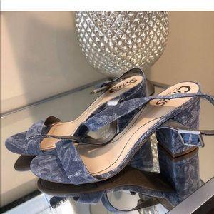 Sam Edelman Circus Block Heel Denim Style Sandals